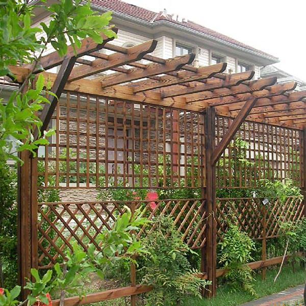 防腐木葡萄架墙围类型