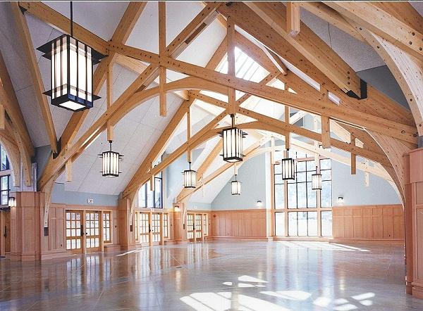 胶合木建筑室内